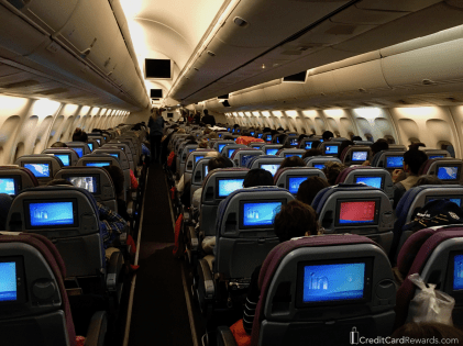 LATAM 767 economy cabin
