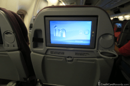 LATAM 767 economy video screen