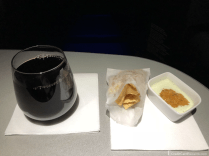 JetBlue Mint Post-Departure Wine and Snack
