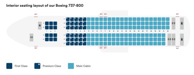 alaska airlines 737-800 seat map