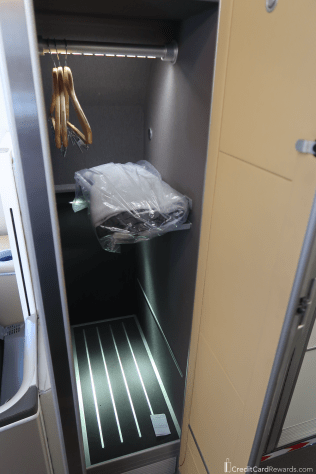 Lufthansa First Class Private Closet - Plenty of Space!