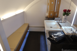 Lufthansa First Class Bathroom Seating