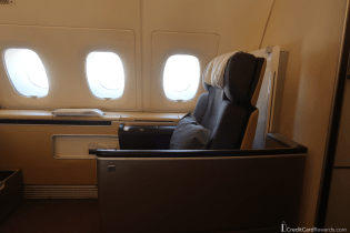 Lufthansa First Class Seat with Privacy Screen Down