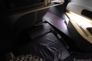 Singapore Airlines Business Class Seat in Full Recline Mode