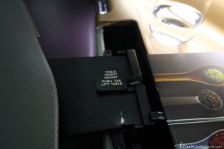 Singapore Airlines Business Class Traytable Height Adjustment