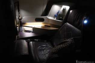 Singapore Airlines Business Class Seat Reclined