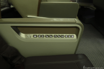 Singapore Airlines Business Class Seat Controls