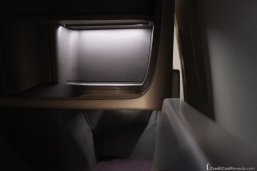 Singapore Airlines Business Class Storage
