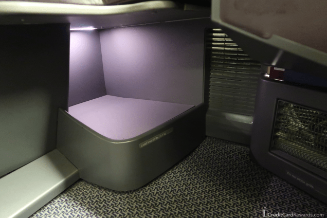 Singapore Airlines Business Class Footrest Area