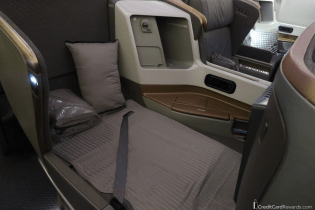 Singapore Airlines Business Class Bed Mode