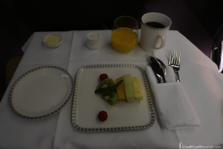 Singapore Airlines Business Class Fresh Fruit