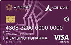 Axis Bank Air Vistara Platinum