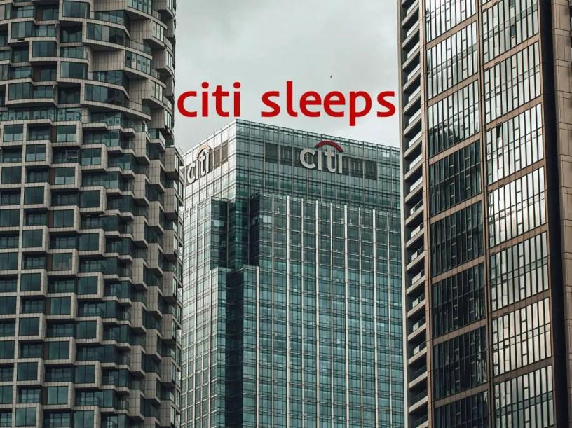 Citi Sleeps in India