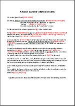 Advance payment conditional bank guarantee EN