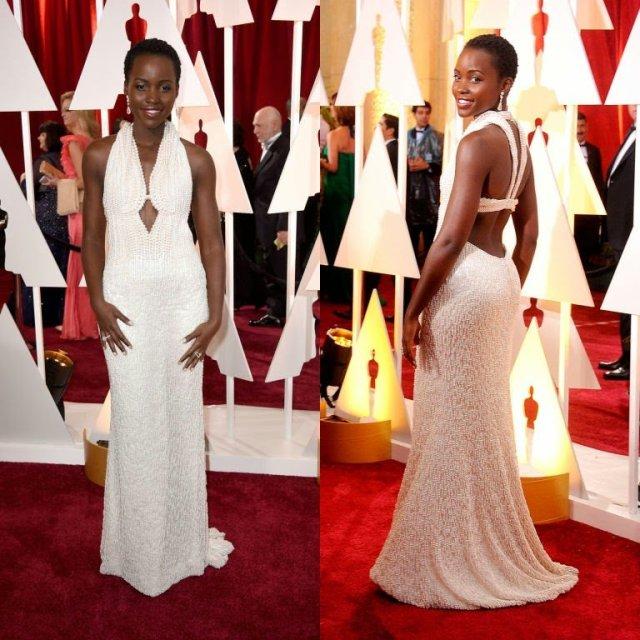 Lupita Nyong'o Pearl Covered Oscars Stolen