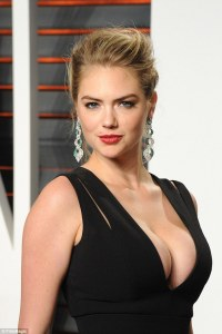 Kate Upton Lights Up the Vanity Fair Oscar afterparty as she ravishes in an Extremly Cleavage Baring Plunging Gown