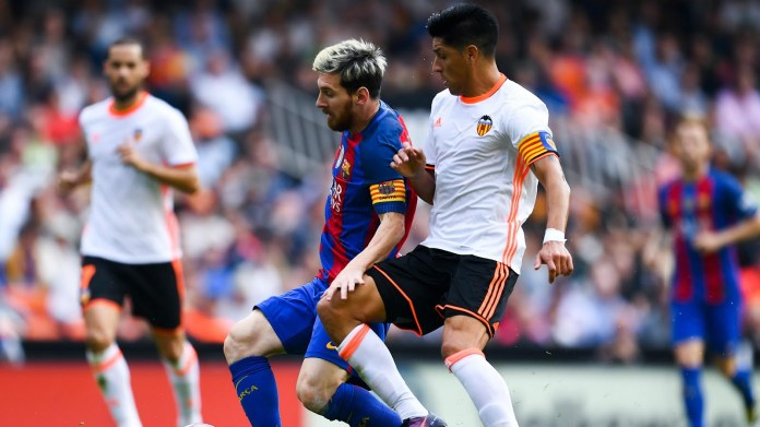 Barcelona Defeats Valencia 3-2 in a Knife Edged Game, as Lionel Messi fires home from spot on 90 Minutes