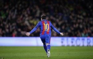 Lionel Messi Scores 300th Goal At Camp Nou In Eibar Thrashing