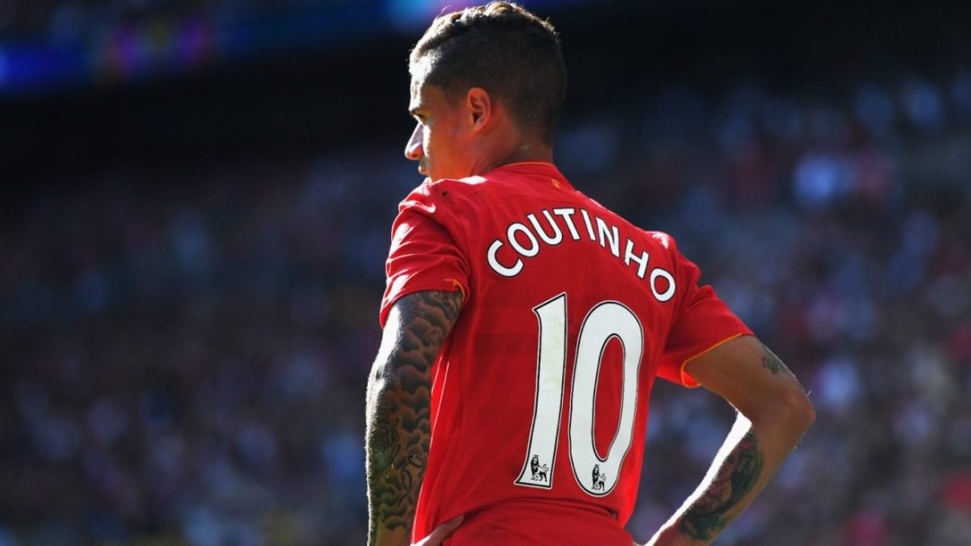 Philippe Coutinho started 31 Premier League games for Liverpool last season, scoring 13 goals