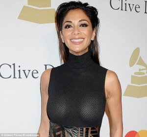 Nicole Scherzinger puts on display her Nipples In a Braless Sheer Dress For Pre-Grammy Event