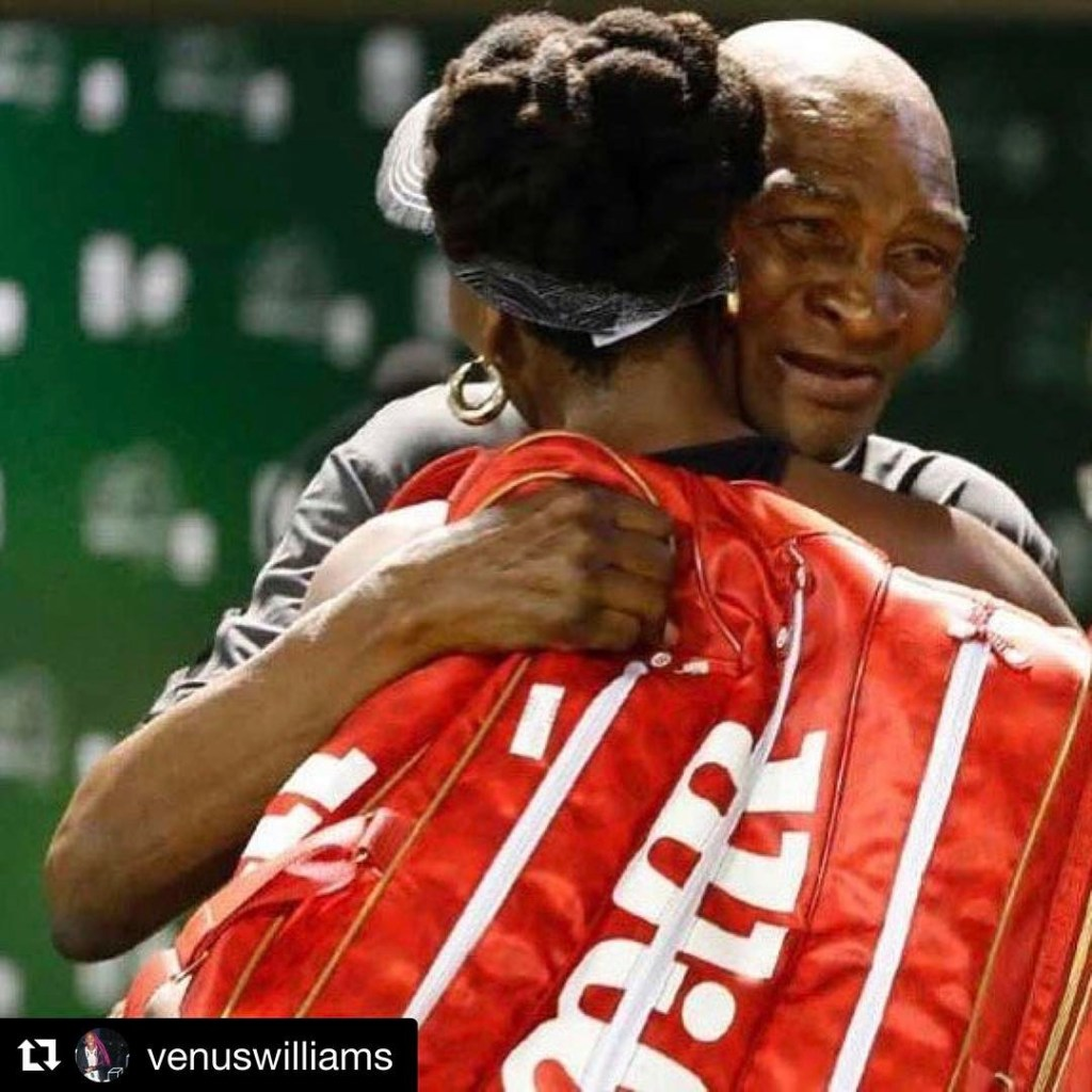 Venus Williams Shares Epic Moment with her Dad, says love of my life