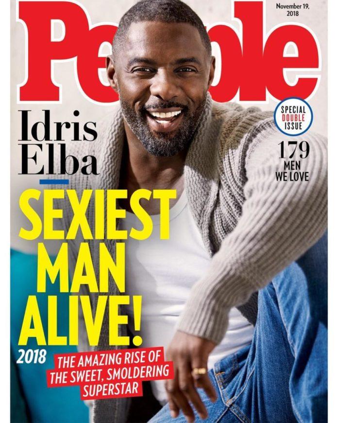 Idris Elba Named People Magazine's 'Sexiest Man Alive' in 2018