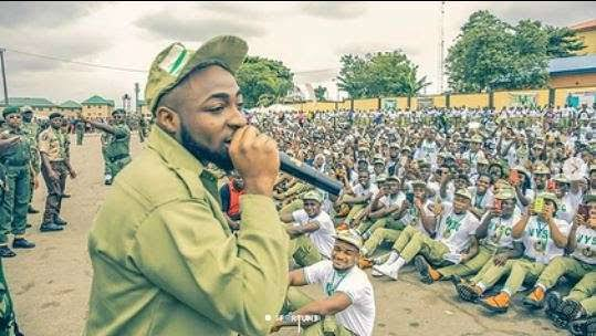 Nysc Cancels and Terminate Davido's Service