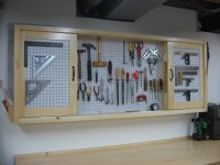 Wooden Pegboard Tool Cabinet PDF Plans