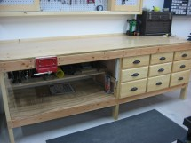Workshop Cabinets and Workbench Plan