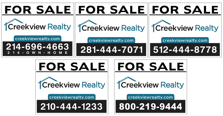 5 Real Estate Signs
