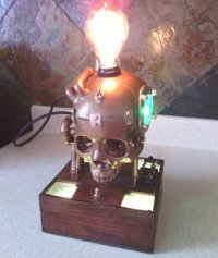 Creepy/Cool: Steampunk Skull Lamp - Creepbay