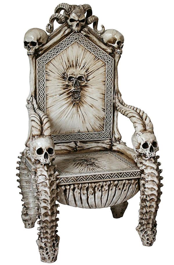 Dark Ruler of the Underworld Skull Throne Chair