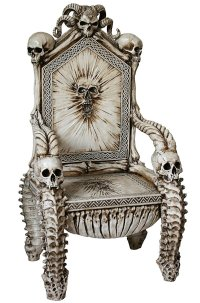 Dark Ruler of the Underworld Skull Throne Chair