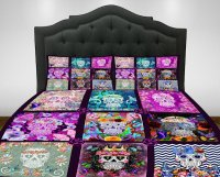 Sugar Skull Bedding Comforter Set - Day of the Bed - Creepbay