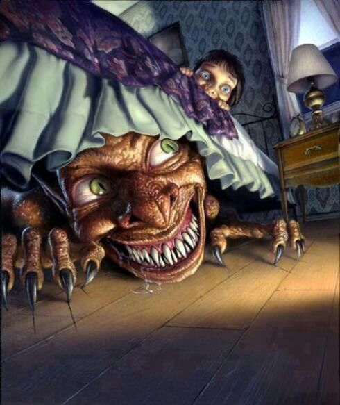 Image result for good night monster under the bed