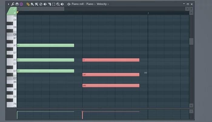 création d'un accord mineur sur fl studio