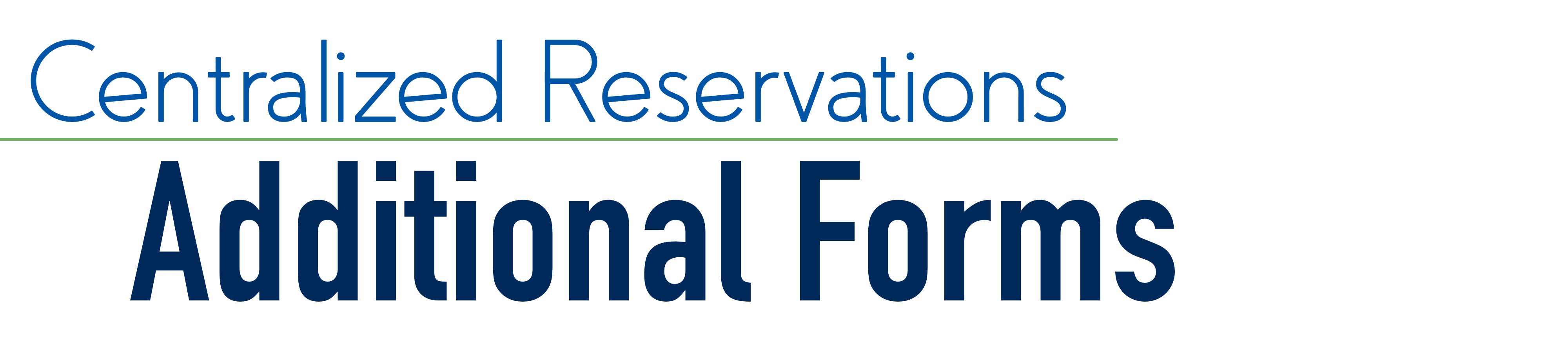 Additional Reservation Forms