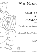 Harp sheet music: Adagio & Rondo K617 WA Mozart arranged