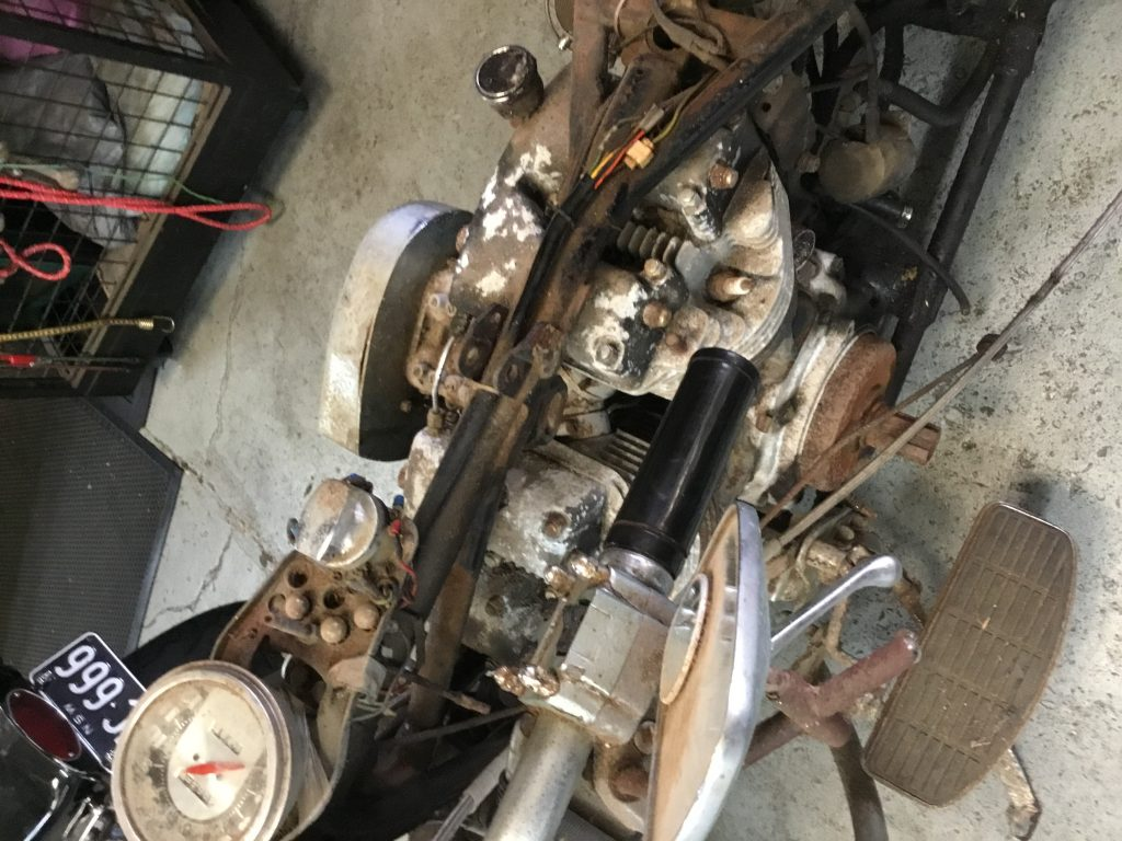 hight resolution of restoring 1973 flh before and after c r engineering harley davidson revesby sydney nsw