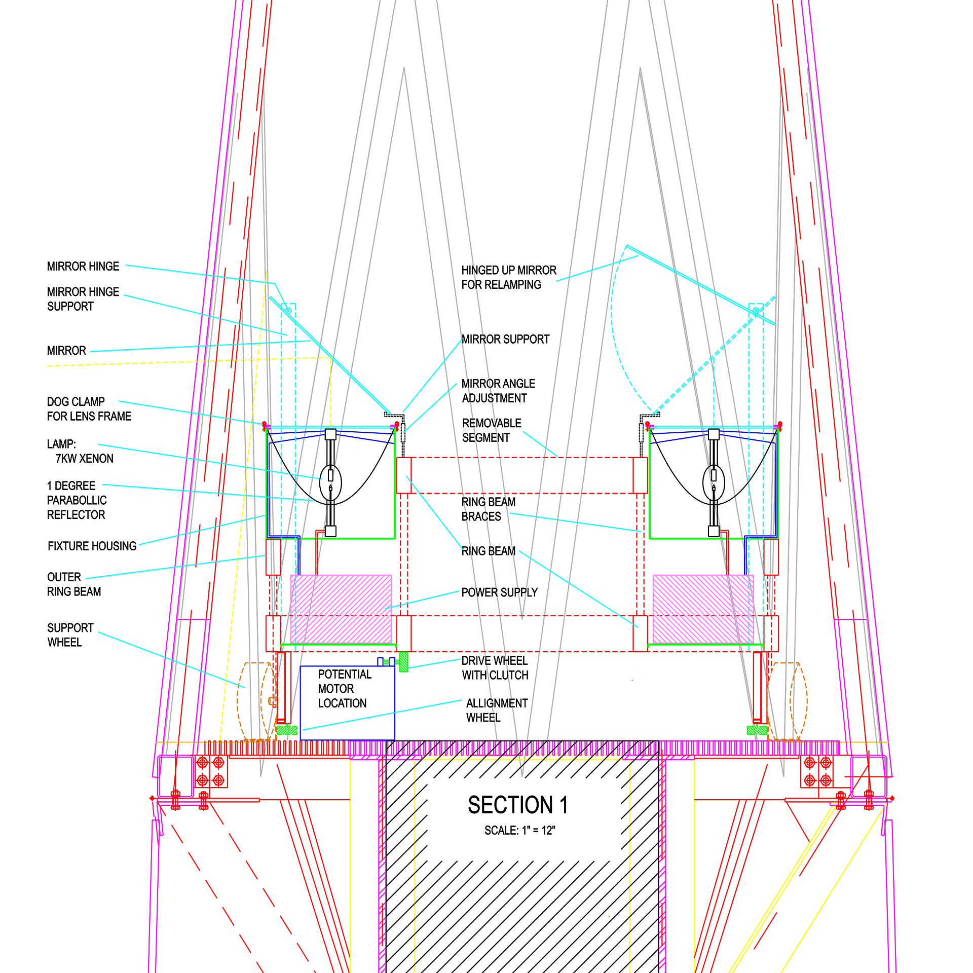 hight resolution of 5 beacon light section
