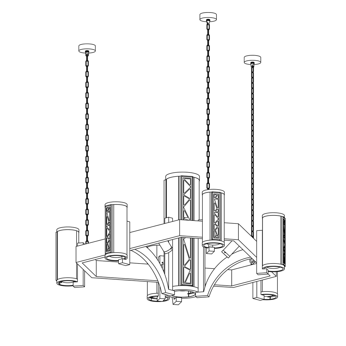 hight resolution of crenshaw stained glass chandelier 3500 pac