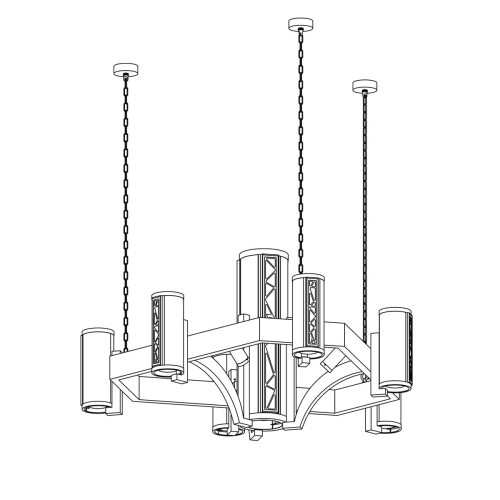 small resolution of crenshaw stained glass chandelier 3500 pac