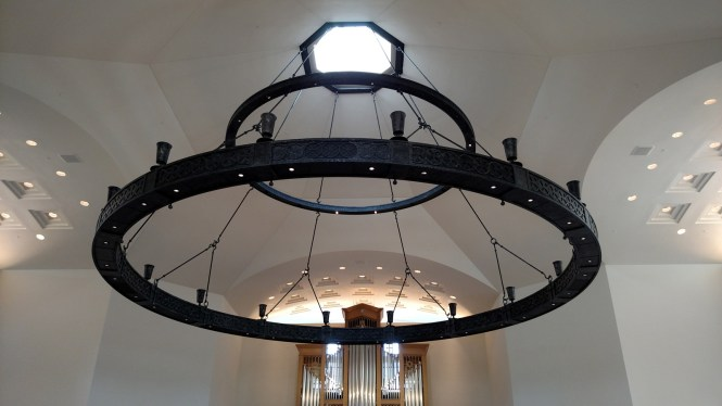 Virginia Theological Seminary Full Chandelier Installed