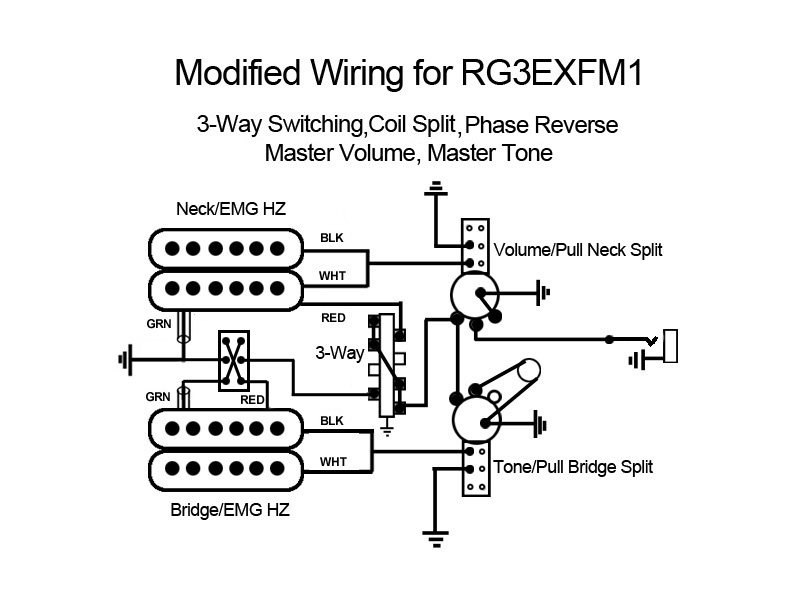 emg hz wiring diagrams jeep 4 0 serpentine belt diagram dot on a circuit terminal is labeled as image pickups