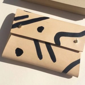 "MISHA ""Shapes"" Leather Pouch"