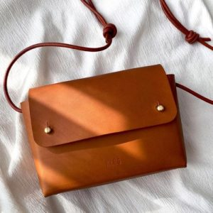 Mini Leather Bag ORIANA Tan