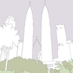 Kuala Lumpur Print (A3 Frame)