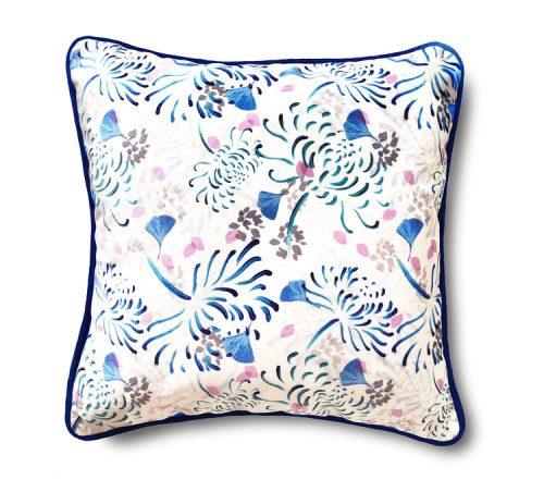 Shimmer Velvet Cushion – Florals
