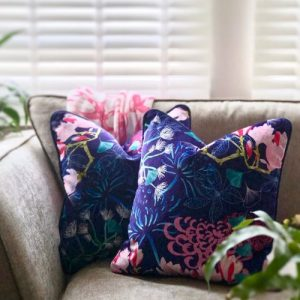 Shimmer Velvet Cushion - Midnight Florals - Shimmer Velvet Cushion Midnight Florals1 500x500