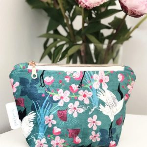 Shimmer Velvet Zipper Pouch – Crane & Blossom